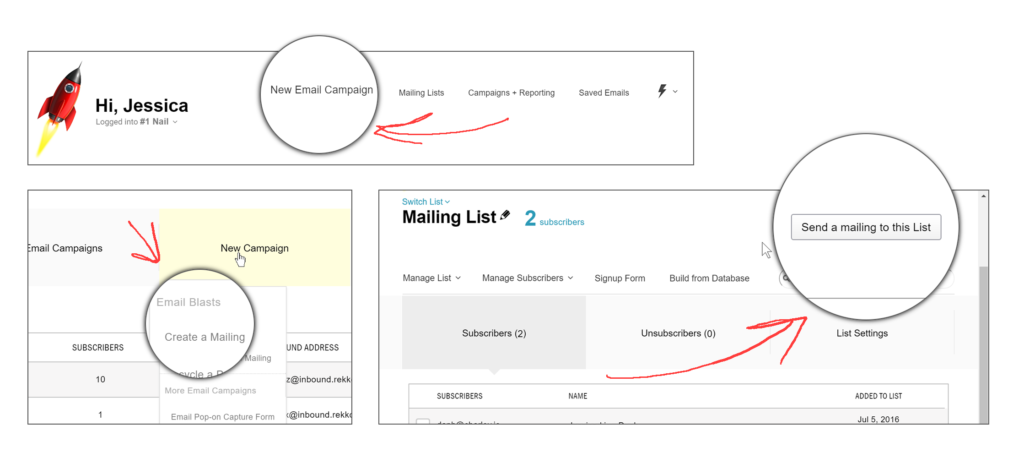 Ways to create a new Email Blast Campaign